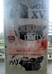 Prähistorisches Partyposter