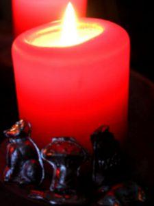 Kerze und Gießblei